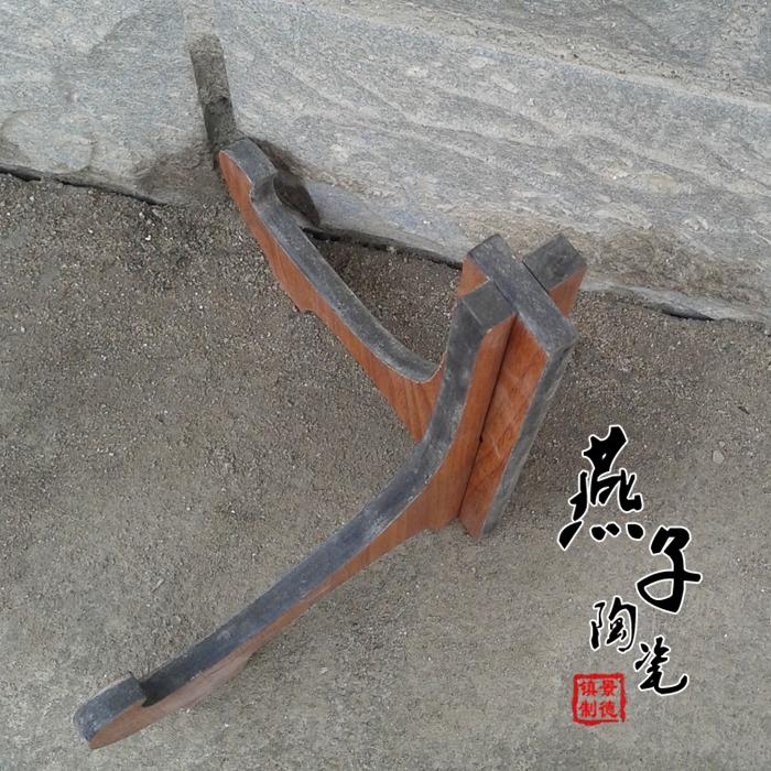 Декоративные украшения Цзиндэчжэнь высокая плотность керамики кронштейн доски декор фарфоровая тарелка деревянный Дисплей стойки держатель лотка