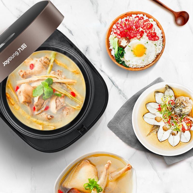 九陽電飯煲智能預約蒸飯鍋迷你小型家用多功能一人食電飯鍋3L棕色