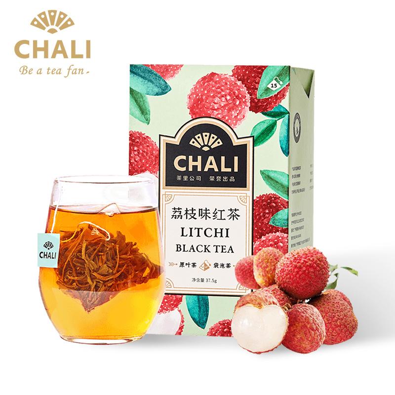 ChaLi茶里荔枝紅茶荔枝果干紅茶袋泡茶水果花果粒茶三角茶包