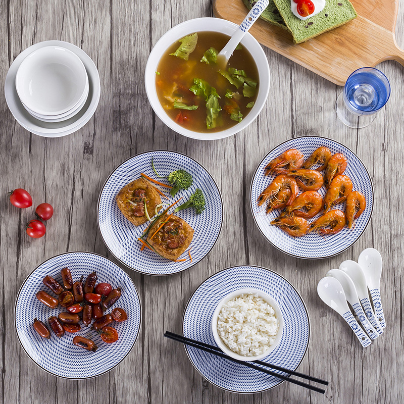 Dishes suit household jingdezhen ceramic ipads China Japanese Dishes feng creativity tableware suit small and pure and fresh combination