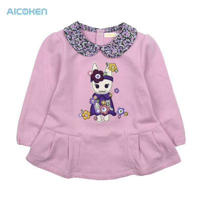 Love children's wear children's clothing children's hot sale cotton long-sleeved T-shirt baby shirt children t-shirt doll a price