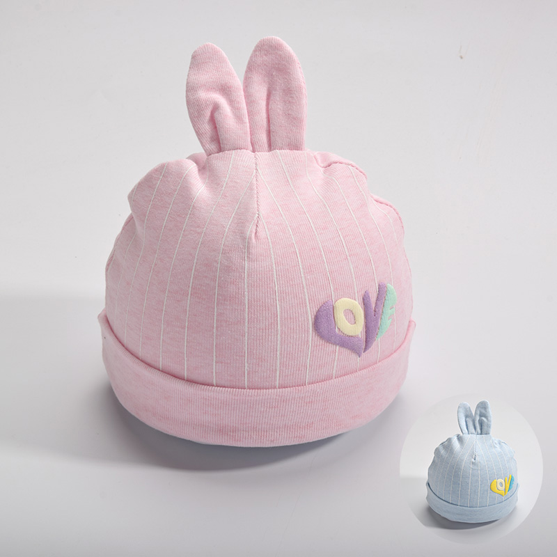 新生儿帽子秋冬初生婴儿胎帽纯棉满月三个月宝宝帽子冬男婴儿潮