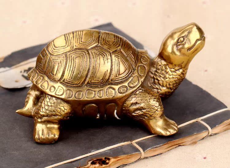 鑫禄圣风水纯铜乌龟摆件小长寿龟八卦龟发财龟工艺品摆设家居饰品