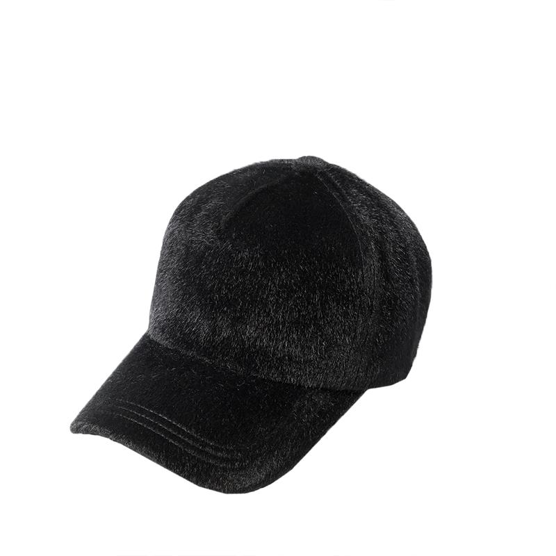 纯色马毛棒球帽子女冬季潮韩国时尚鸭舌帽女士秋冬新款帽子韩版
