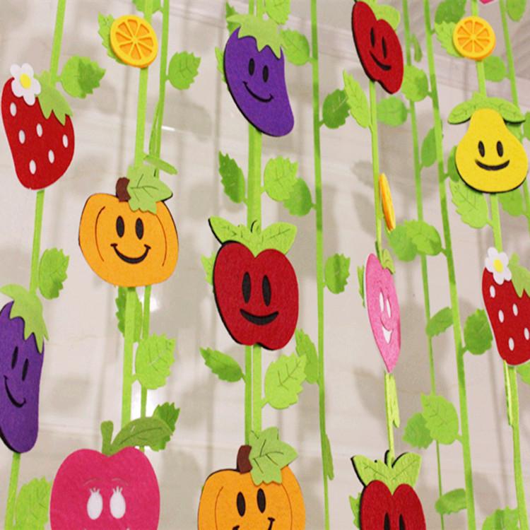 幼儿园装饰吊饰教室走廊天花板棚顶空中挂件创意卡通立体水果蔬菜