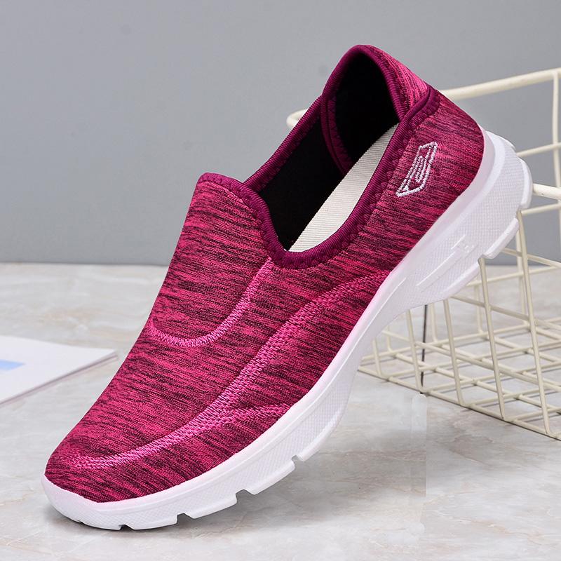 2020男女鞋老北京布鞋软底健步老人休闲运动鞋女防滑软底妈妈款