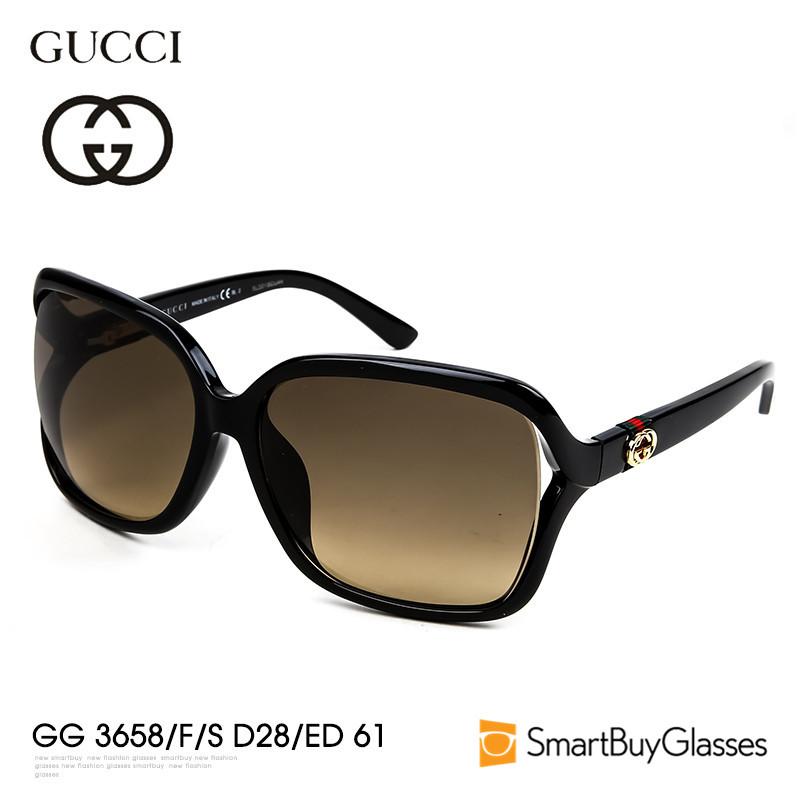 Gucci太阳镜女Gucci墨镜 方框开车镜驾驶防晒太阳镜 GG 3658-F-S