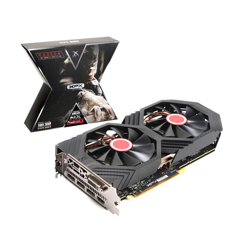 XFX 讯景 RX 580 黑狼版 8GB GDDR5 显卡