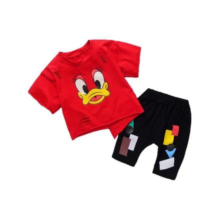 男童夏装2018新款套装儿童短袖夏季童装帅宝宝洋气小孩衣服潮