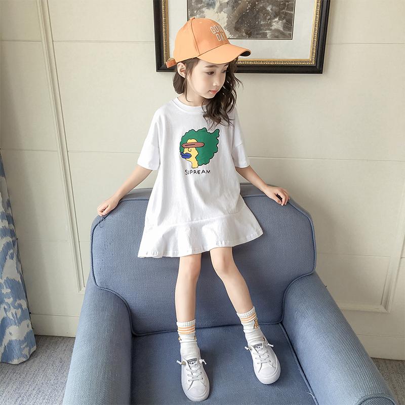 5aeb91ffd18d Girls dresses summer dress 2018 new children's clothing little girl white  Korean princess dress children summer