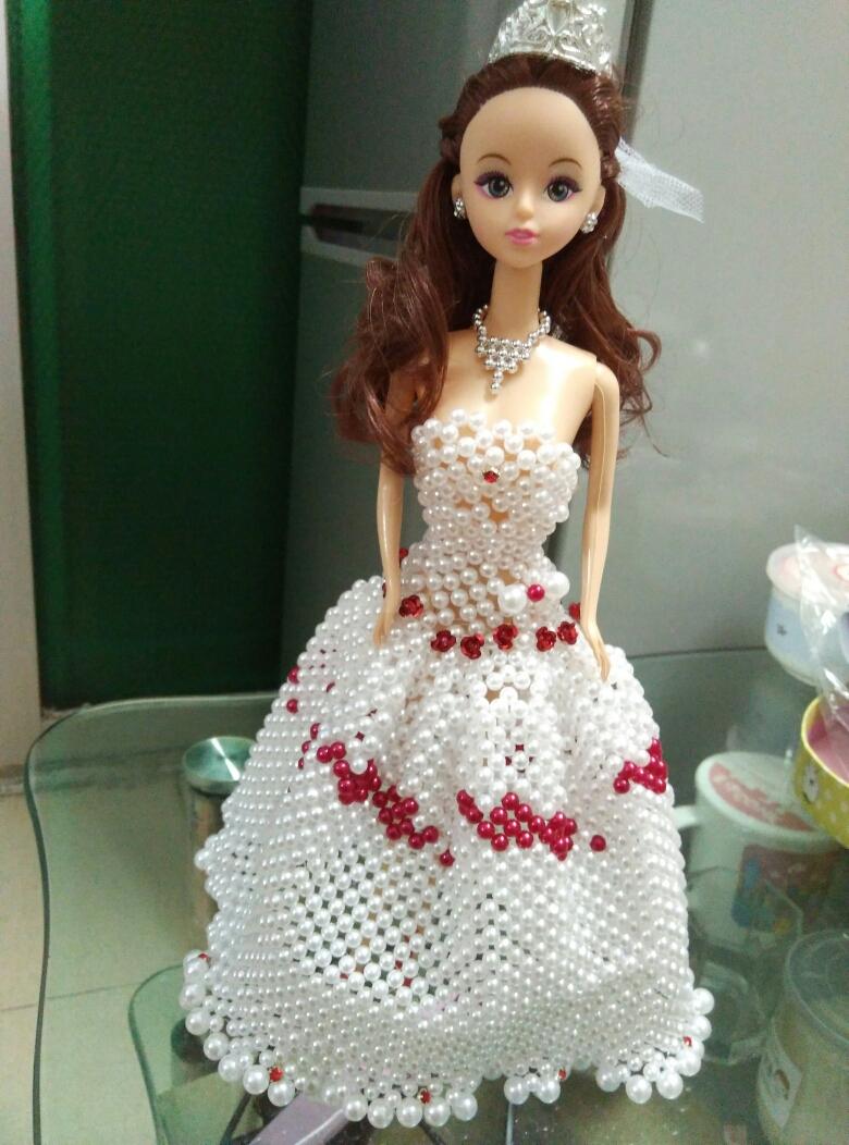 diy手工儿童串珠芭比娃娃礼服材料包婚纱旗袍公主裙中文表格10款