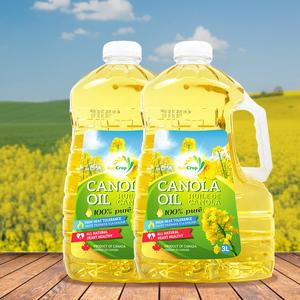 加拿大进口SunCrop芥花籽油食用油3L*2桶物理压榨植物油高烟点