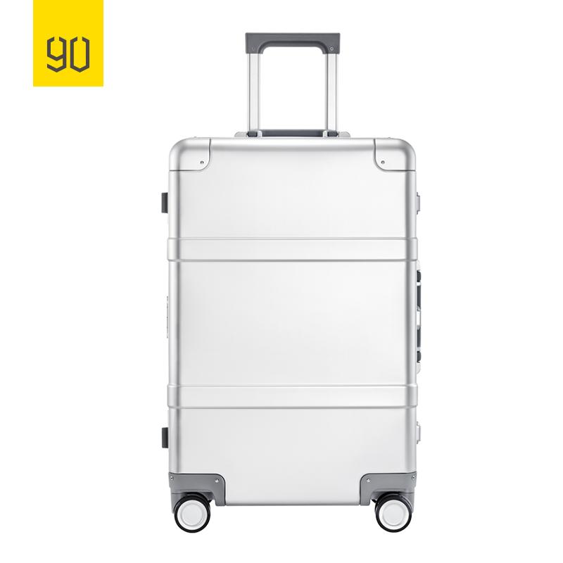 90分金属拉杆箱 24寸航空镁铝合金 超静音万向轮旅行箱 银色版