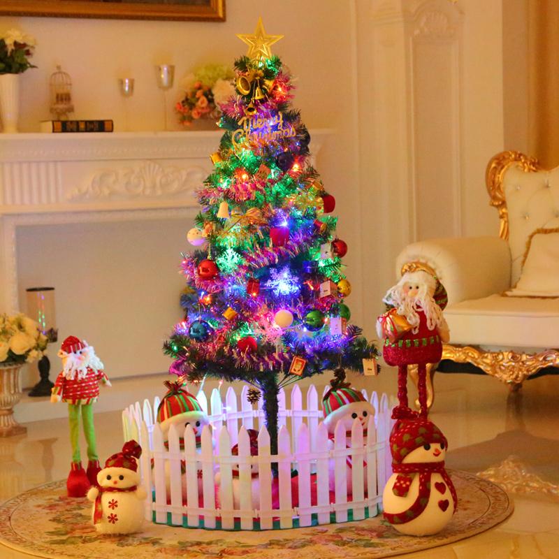 圣诞节桌面小型圣诞树迷你60cm33个配