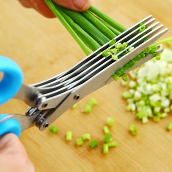 多层厨房多功能不锈钢五层葱花剪刀神器韭菜香菜切葱刀碎纸切碎菜