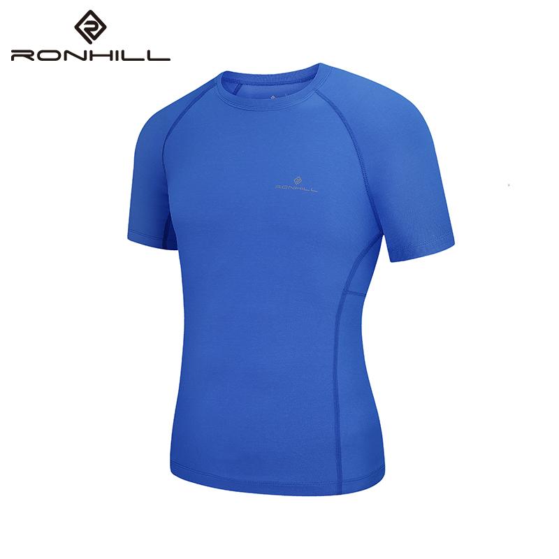 RONHILL进口运动t恤男短袖透气速干训练健身服专业马拉松跑步装备