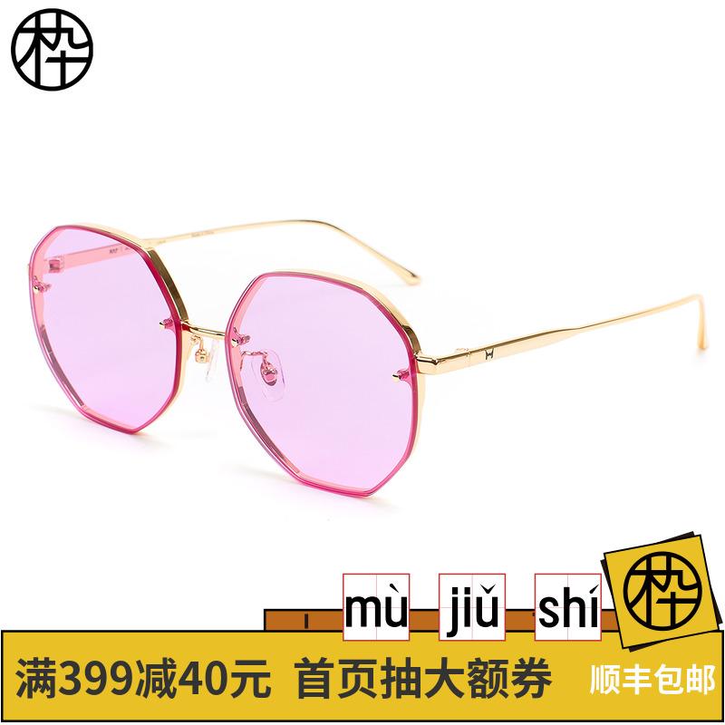 木九十2018年新款 不规则多边形太阳镜 时尚浅色太阳镜SM1840183