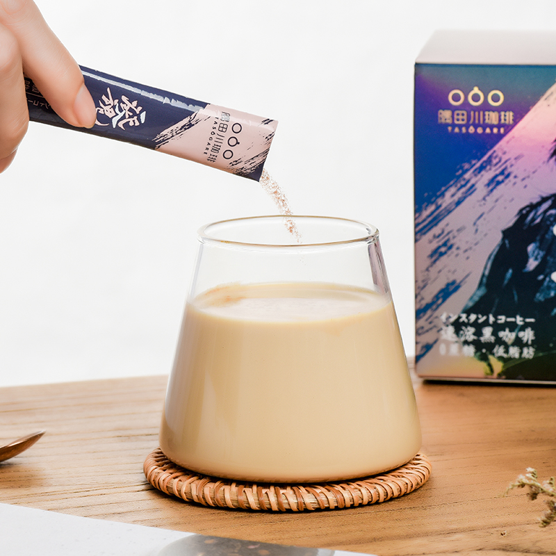 隅田川一发入魂精品速溶黑咖啡美式无蔗糖0添加香醇咖啡粉 50条装