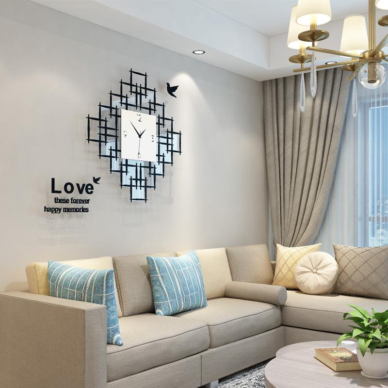 艺术钟表卧室时钟挂钟客厅个性创意时尚现代简约家用新款大气挂表