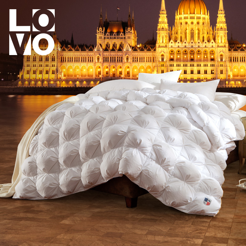 lovo罗莱生活出品保暖羽绒被子匈牙利鹅绒被冬天白鹅绒双人冬被