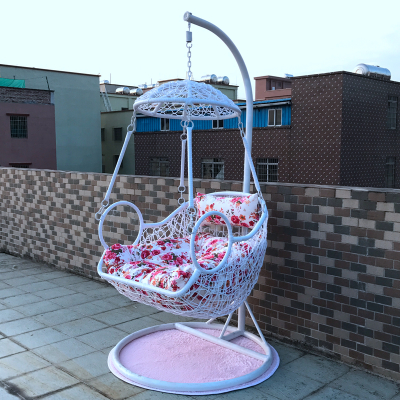 Hanging Chair Indoor Balcony Chair Rocking Chair Swing Single Bird Nest  Double Hammock Imitation Teng Thick Rattan Basket Adult Cradle Chair