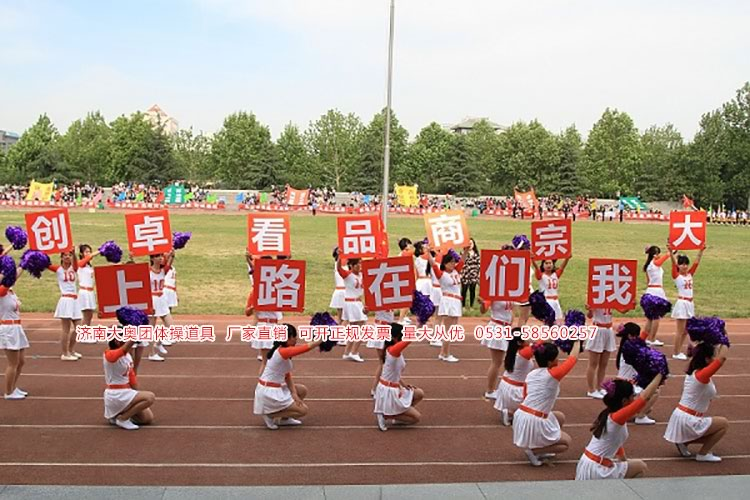 运动会开幕式表演道具方队口号拼图舞蹈变换背景摆字定制图片