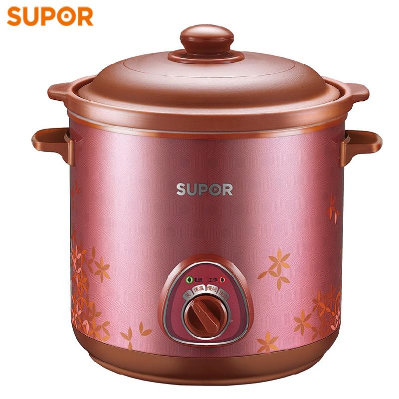 苏泊尔电炖锅家用6L大容量煮粥煲汤紫砂陶瓷炖盅养生全自动电砂锅