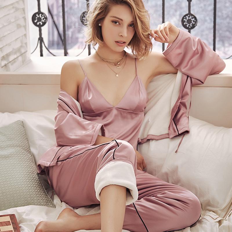 佩莎缇性感吊带睡衣加厚加绒法兰绒