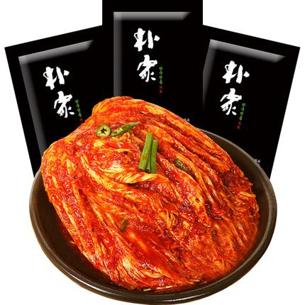朴家泡菜 韩国泡菜正宗辣白菜 韩式下饭咸菜 朝鲜腌制泡菜 3袋装