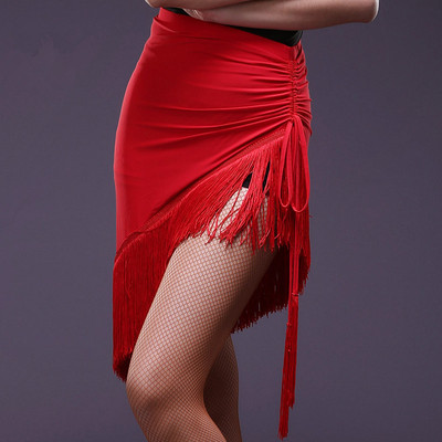 Latin Skirt Half-length Skirt LiuSu Latin Dance Dress Adult Gonggong Skirt Dance Skirt