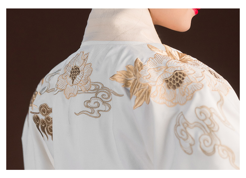 重回汉唐精工汉服女长袄马面裙飞鸿凌月明制交领原创传统礼服春秋图片