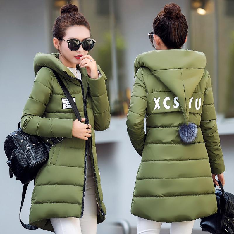 反季特价羽绒棉服女中长款韩版修身显瘦冬装加厚棉衣学生大码外套