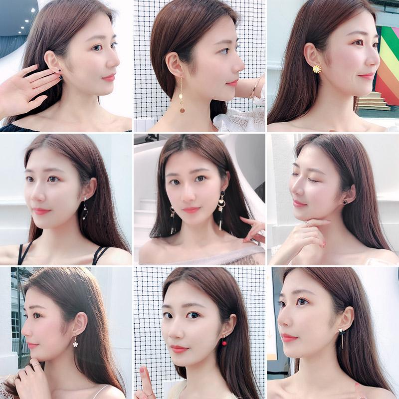 韩国超仙显脸瘦耳环冷淡风耳钉个性网红女气质百搭简约耳坠长款