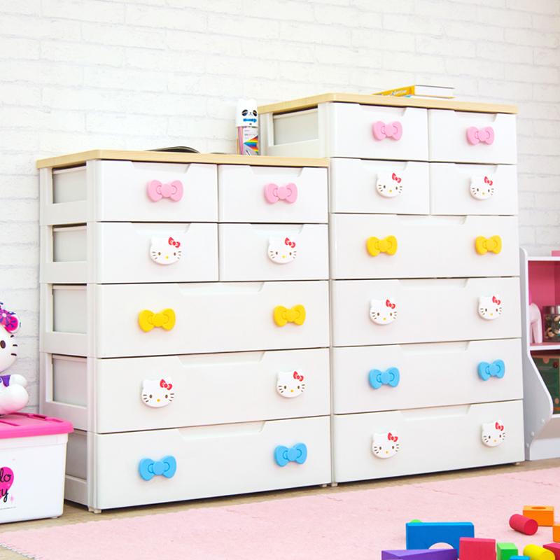爱丽思IRIS爱丽丝HelloKitty抽屉式宝宝衣柜婴儿衣服整理收纳柜子