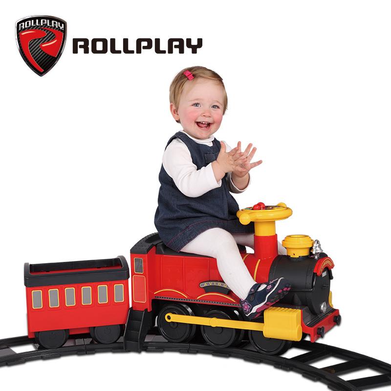 美国rollplay如雷儿童电动车可坐人宝宝轨道小火车婴儿玩具车