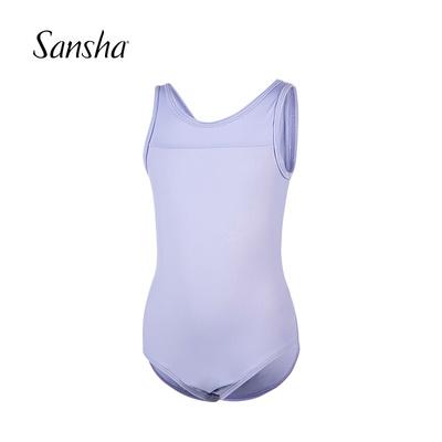 Sansha 法国三沙儿童芭蕾舞吊带练功服 女童舞蹈体操连体服演出服