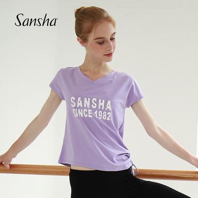 Sansha 法国三沙2019夏季新款印花舞蹈运动T恤
