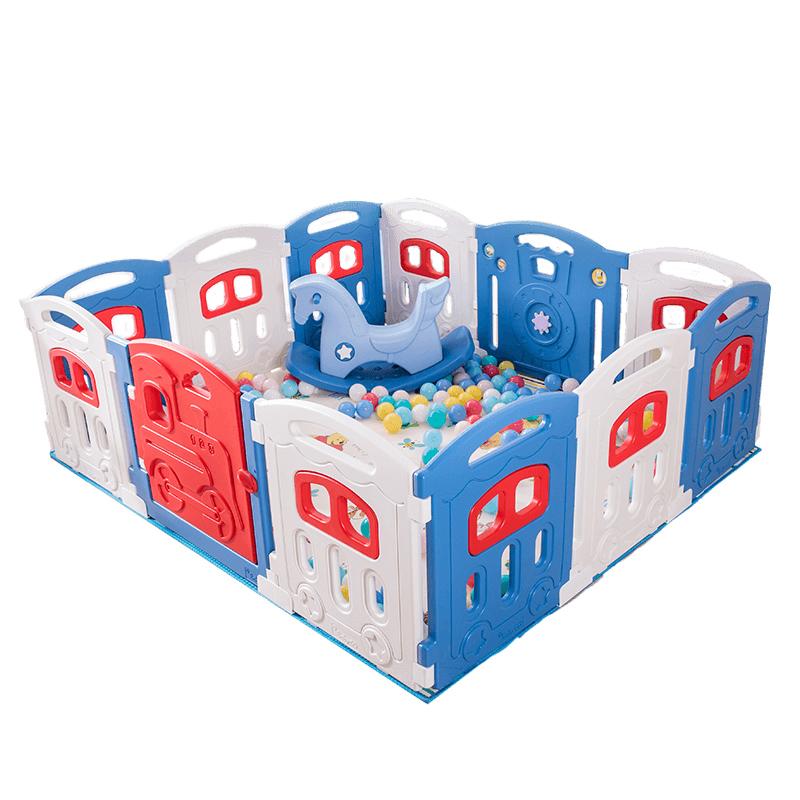 babygo儿童游戏围栏宝宝安全室内栅栏婴幼儿爬行学步护栏玩具