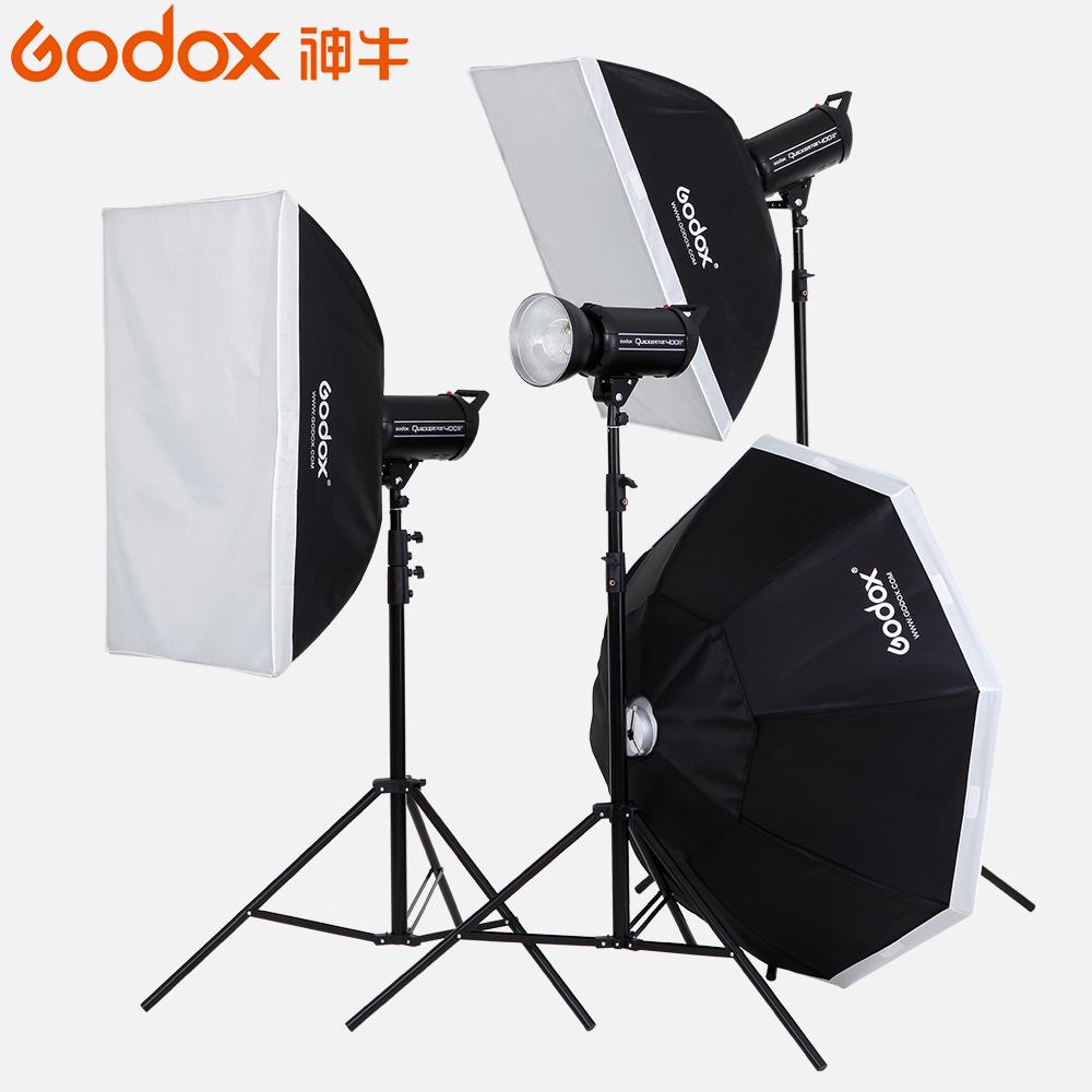神牛摄影灯套装SKii400W二代室内闪光灯柔光箱摄影棚人像补光灯