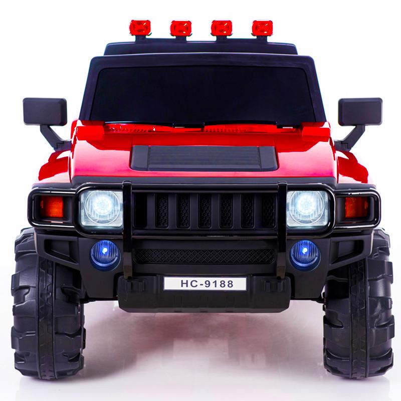 越野双人座儿童电动车四轮遥控小孩汽车男女宝宝可坐人摇摆玩具车