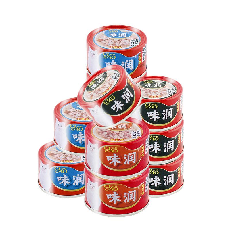 伊纳宝味润罐头猫增肥营养猫咪零食猫浓汤罐湿粮包猫罐头24罐整箱