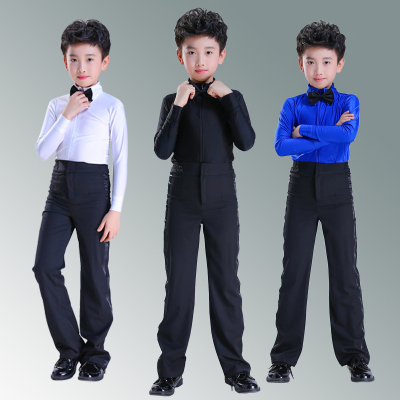 Children's boys' Latin dancers, children's standard test clothes, professional wear, boys' Latin dancers.