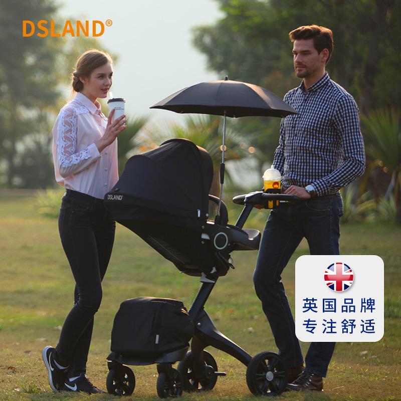 幼儿dsland高景观婴儿推车手可坐可躺折叠避震进口品牌宝宝伞车