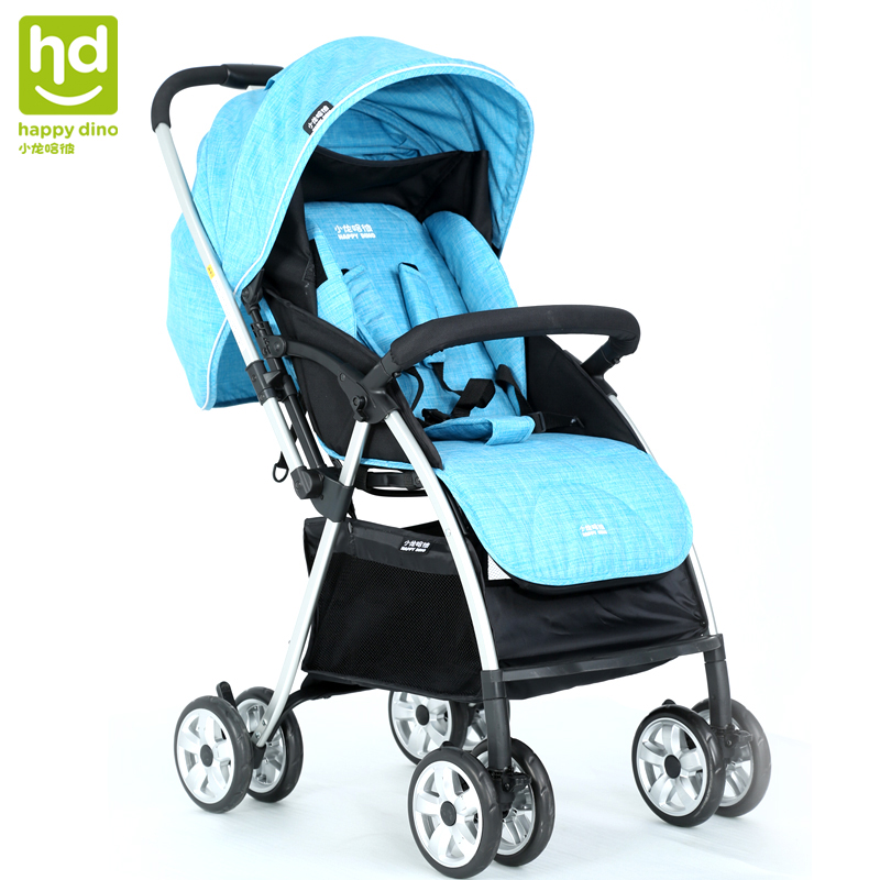 Xiaolong Hapie stroller high landscape light four seasons can lie can sit shock-absorbing baby cart LC598