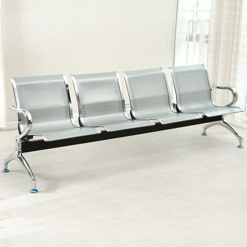 Four Person Airport Chair Three Seat Chair Waiting Chair Stainless Steel  Chair Waiting Chair Seat Chair