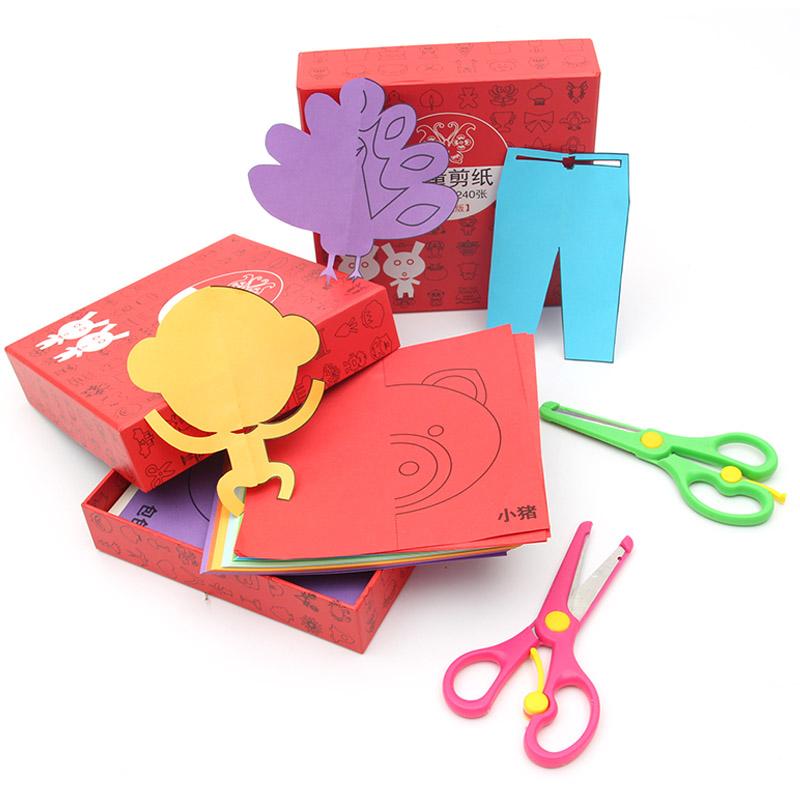 儿童手工剪纸2-3-6岁幼儿园宝宝diy制作立体折纸大全