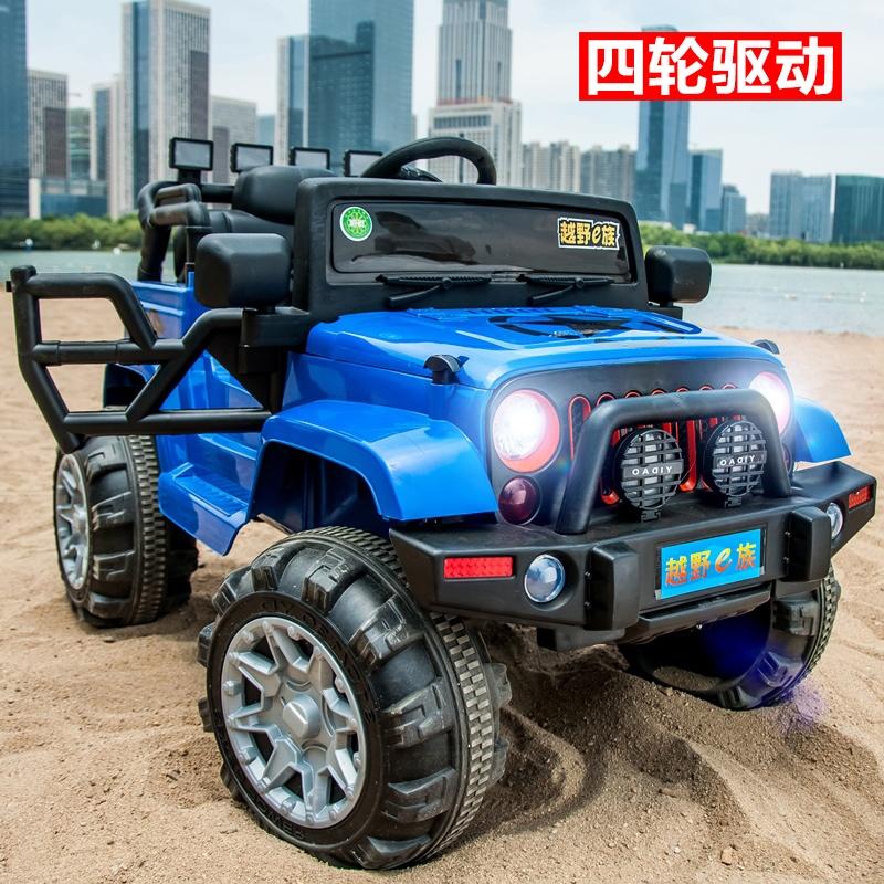 4轮越野儿童电动车四轮玩具充电汽车可坐人1-3岁小孩宝宝四驱童车