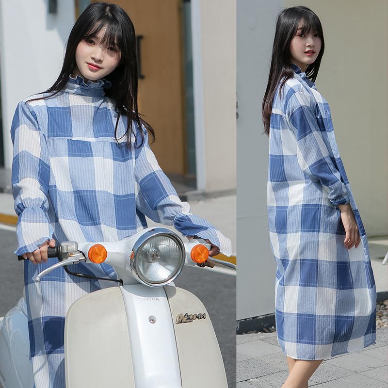 电动车防晒衣女电瓶车防晒骑车长款棉遮阳全身电动车摩托车挡风被