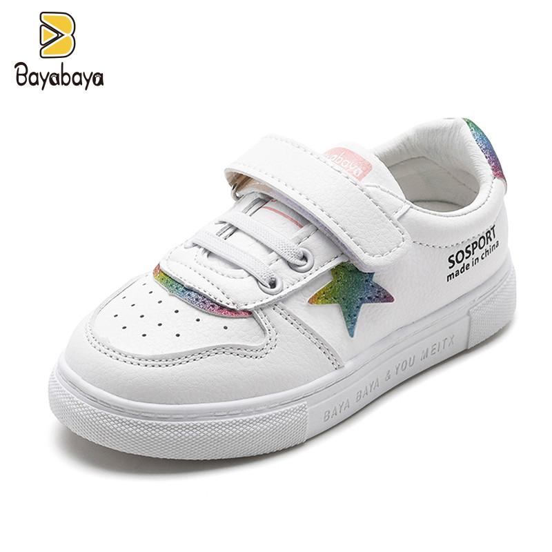 女童鞋儿童小白鞋2019春秋新款韩版休闲中大男童白色运动鞋鞋子潮