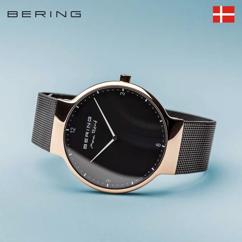 Bering白令手表男防水进口石英表钢带dw黑金情侣手表简约ins女表